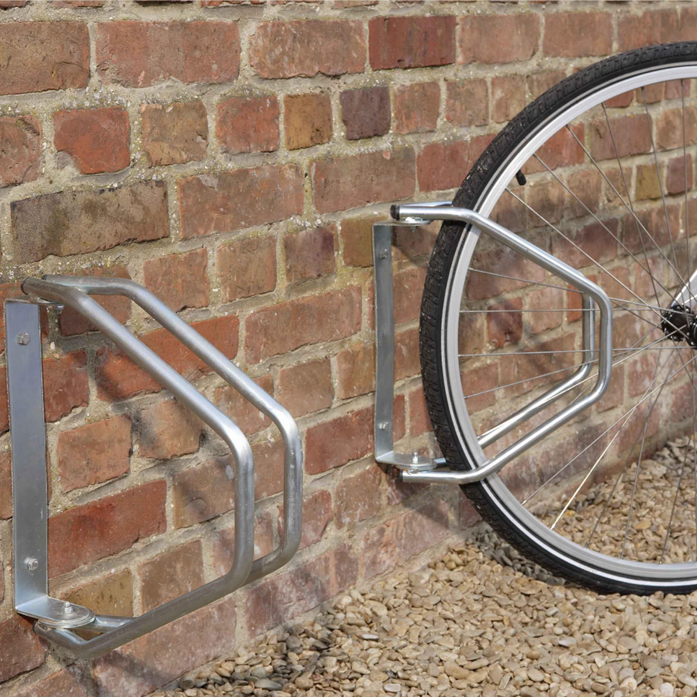 râtelier mural orientable en métal pour le rangement d'un vélo