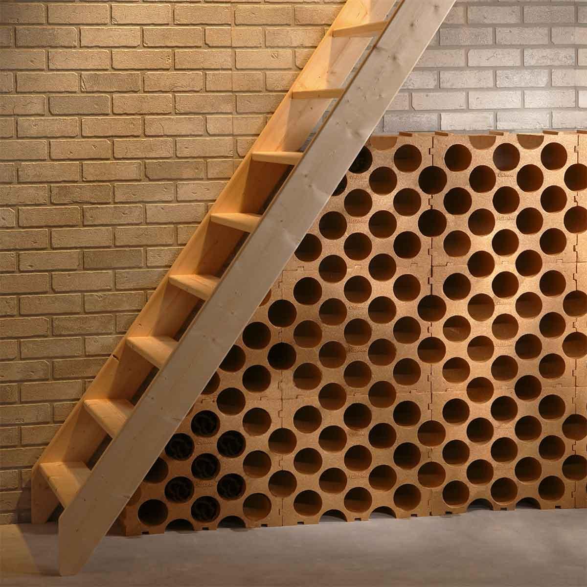 casier 15 bouteilles en polystyr ne couleur terre cuite cave. Black Bedroom Furniture Sets. Home Design Ideas
