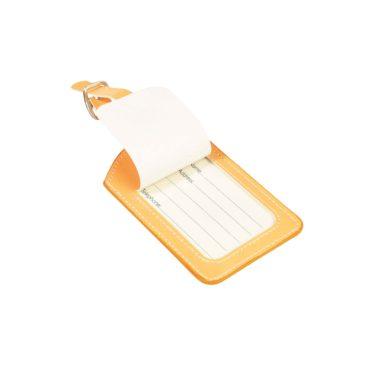 étiquette à bagage jaune pour enfant