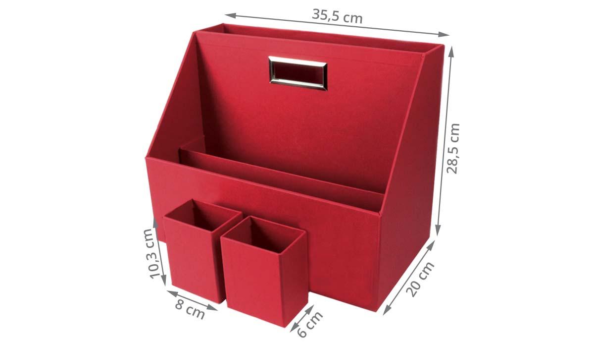 Box de rangement pour bureau partagé rouge