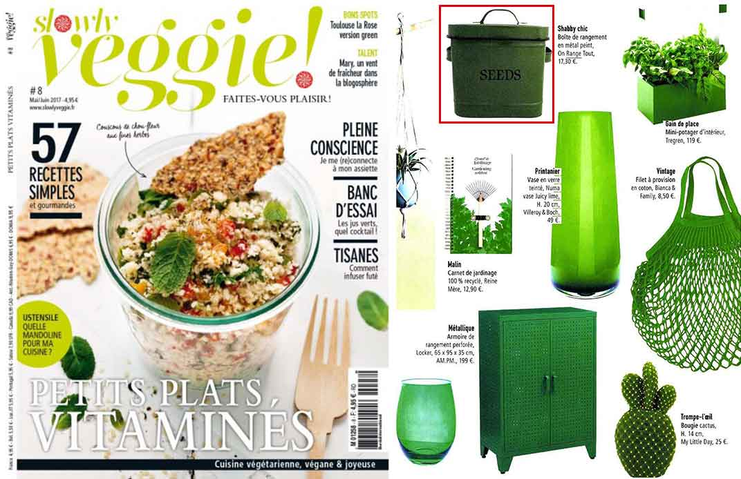 une magazine slowly veggie
